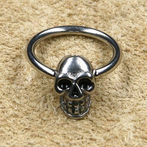Totenkopf 1,2mm Edelstahl Piercing