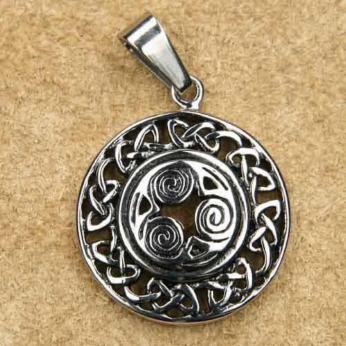 Triskel keltisch Edelstahl Anh
