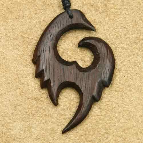 Holz Schmuck Anhänger Drachen Schwinge Kettenanhänger