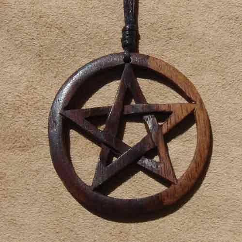 Pentagramm keltischer Holzschmuck