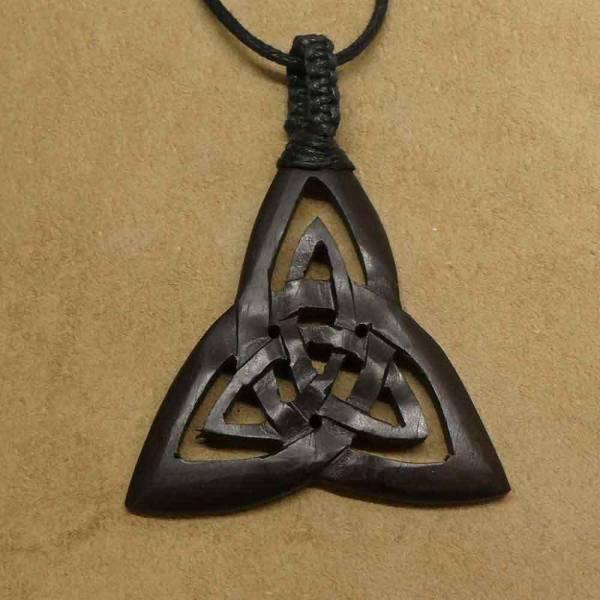 Keltische Kette Holz Schmuck hand gefertigt
