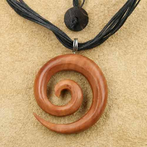 Spirale 4,5cm rotes Holz Kettenanh