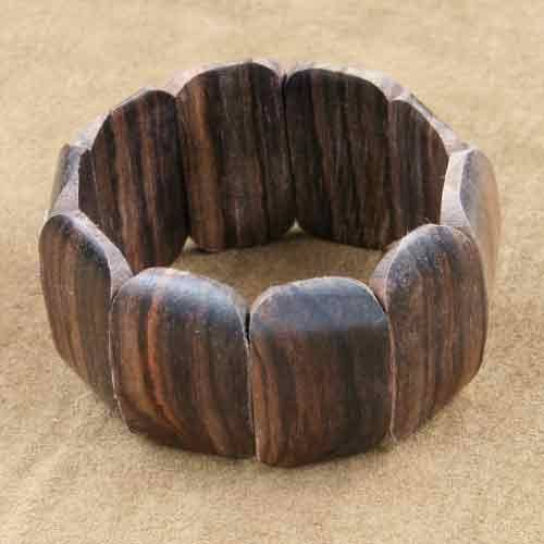 Armband Holzschmuck breit