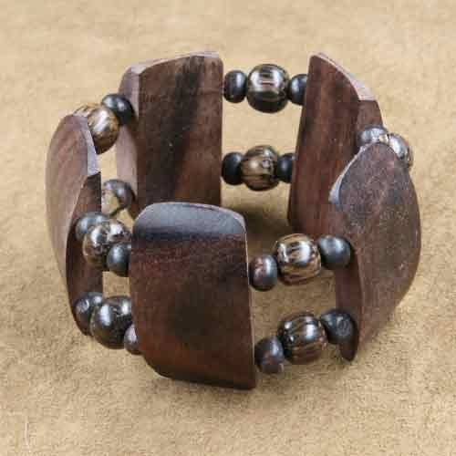 Armband Holzschmuck Perle