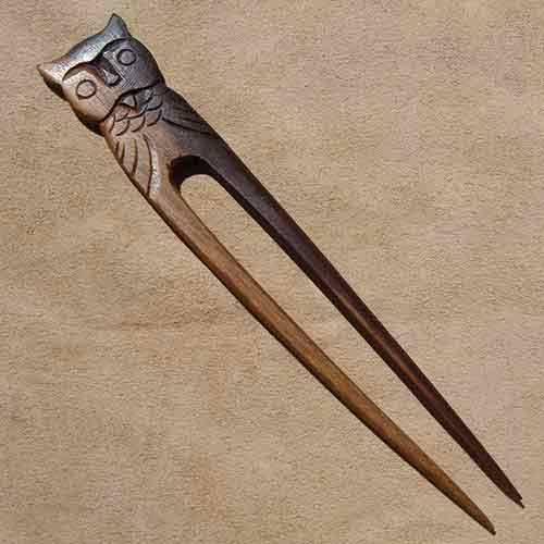 Haarnadel Eule Haarschmuck Holz