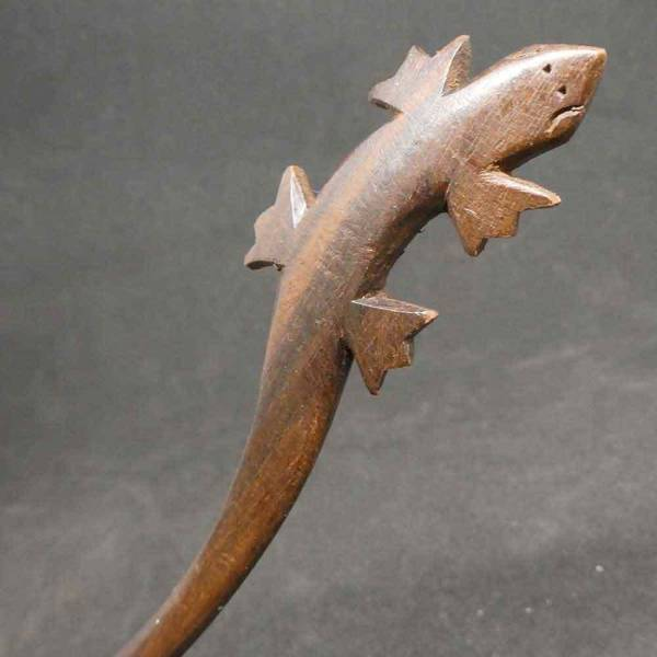 Holz Haarstab Gecko Haarschmuck