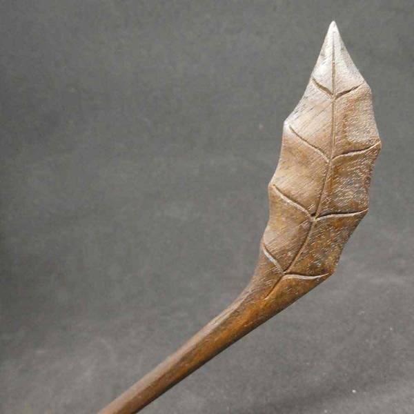Blatt Holz Haarstab Holzschmuck