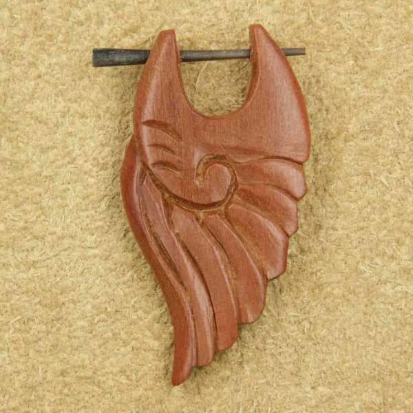 Holz Ohrring Muschel geschnitzt Ohrschmuck