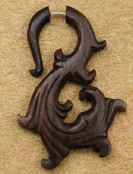 Fakepiercing Holz Lotus