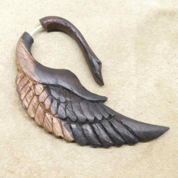 Ohrring Holz Handarbeit ausgefallener Ohrschmuck