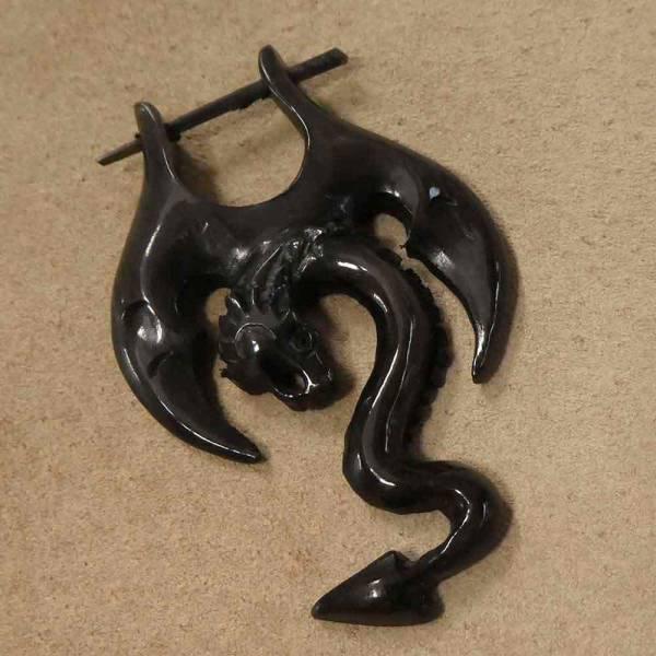 Drachen Ohrschmuck Horn Ohrring Drache