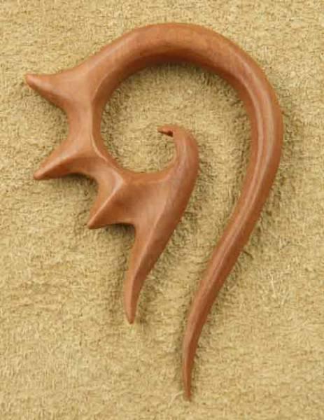 Ohrpiercing Holz Garuda Ohrschmuck