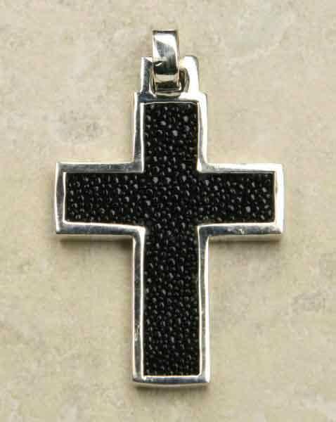 Kreuz mit Stingray Silberschmuck Anh