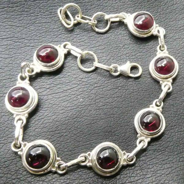 Granat Armschmuck Silber Armband edel