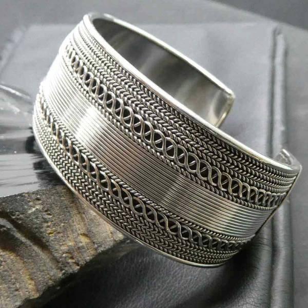 Armschmuck Design breit Silber Damen herren