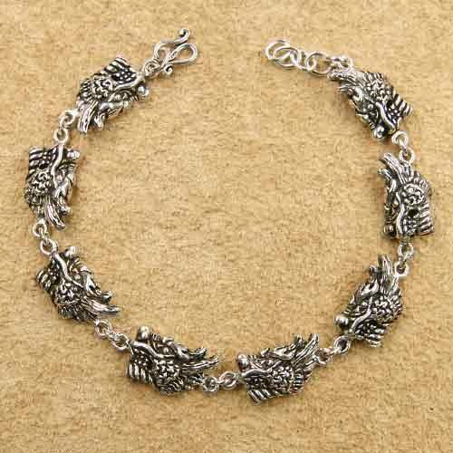 Drachen Armband Sterlingsilber L