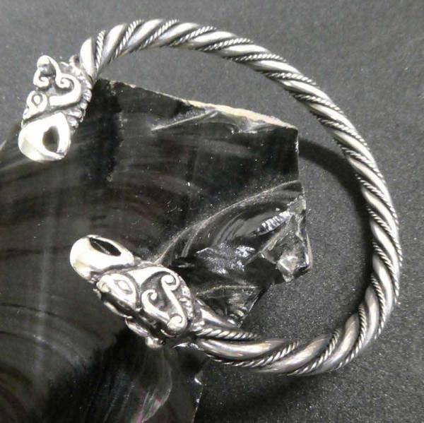 Wikinger Armreif Odins Raben Silber