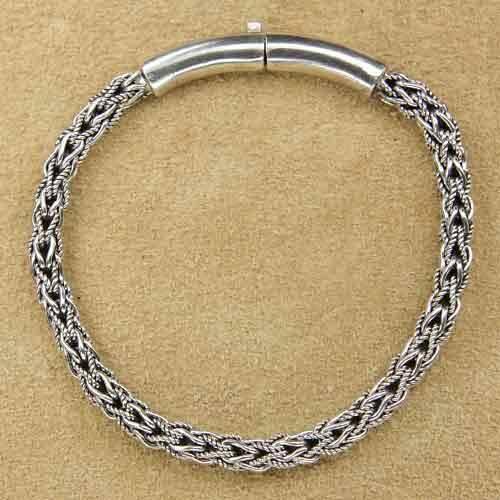 geflochtenes Armband 925 Silber