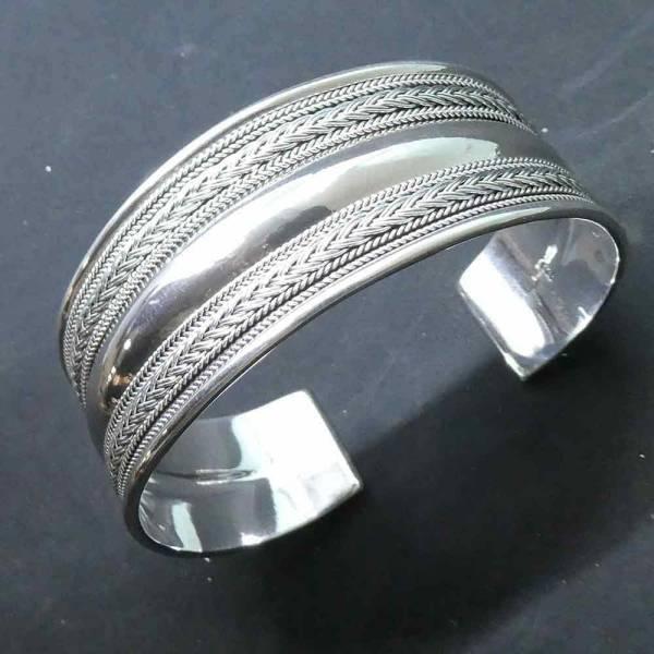 Armreif feiner Knoten 925 Silber Armschmuck