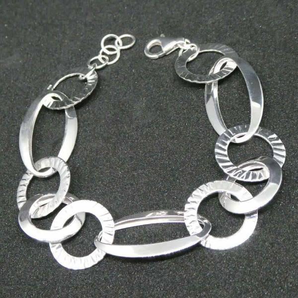 Designer Armband Silber ausgefallen schön