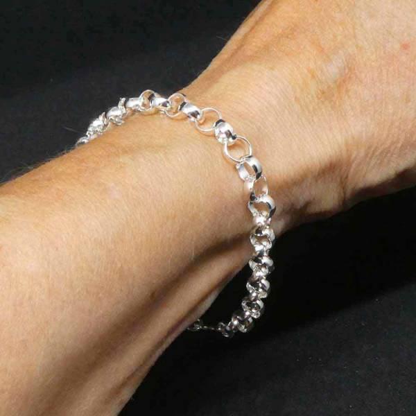 Erbsarmband Silber Damen