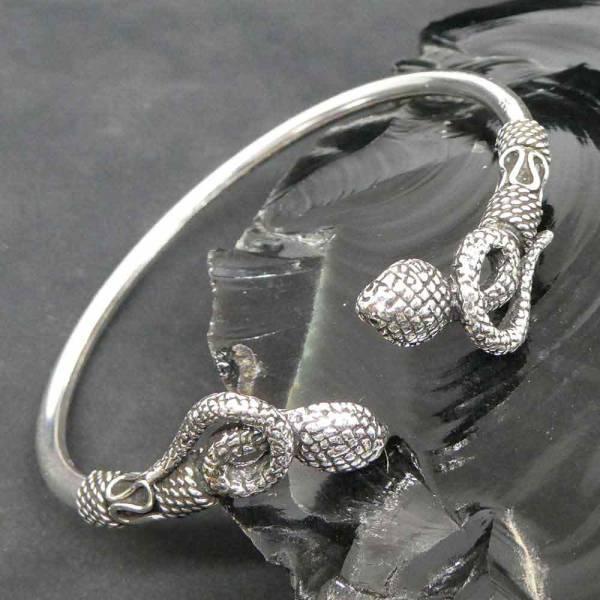 Schlange Armreif 925 Silber Kobra