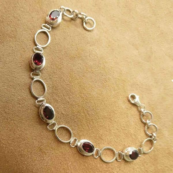 Granat Armschmuck Damen edles Armband