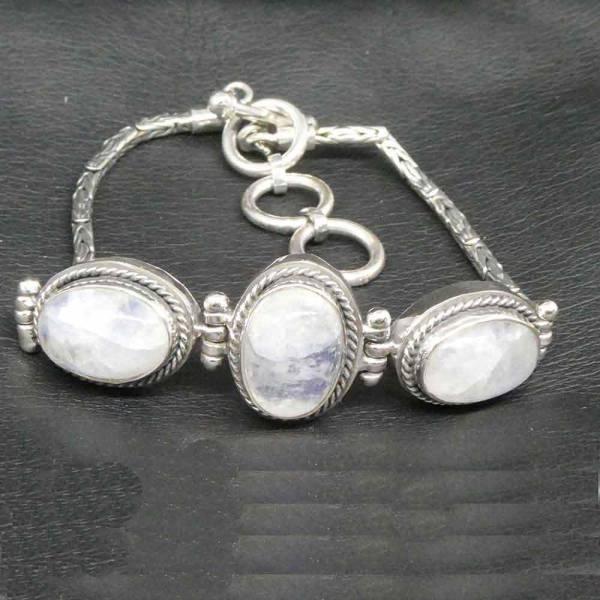 Mondstein Armschmuck Silber Armband
