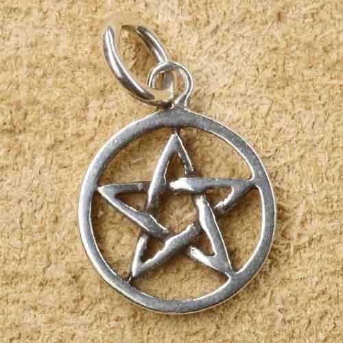 Pentagramm klein Anhänger Silberschmuck