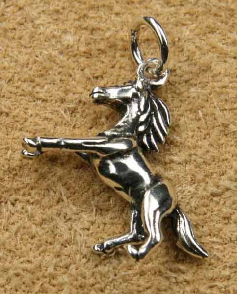Pferd Schmuck Kettenanhänger 925 Silber