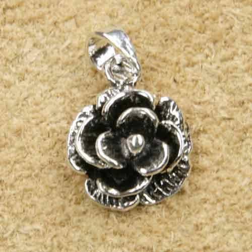 Rose Schmuck Silber Anhänger