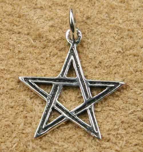 Pentagramm Schmuck Kettenanhänger Silber