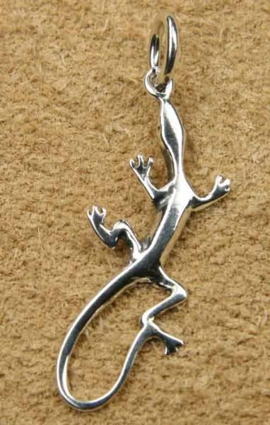 Gecko Schmuck Kettenanhänger Silberschmuck