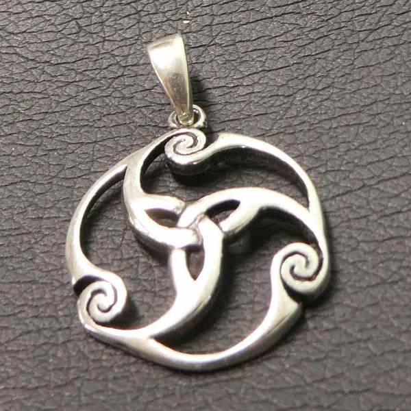 Trinity keltischer Schmuck Silber zart