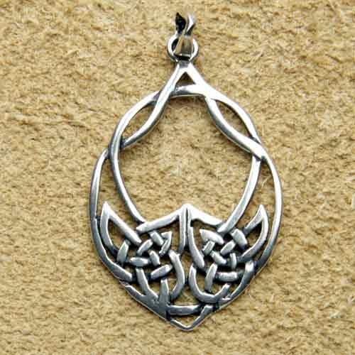 Keltischer schmuck  Keltenblatt keltischer Schmuck Kettenanhänger Silber