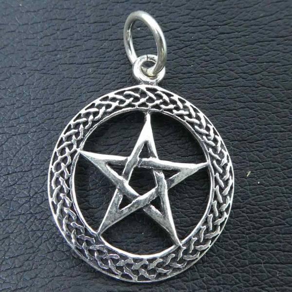 Pentagramm Silber Anhänger keltischer Kettenanhänger