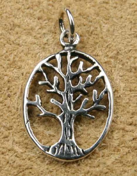 Silberschmuck Kettenanhänger Lebensbaum