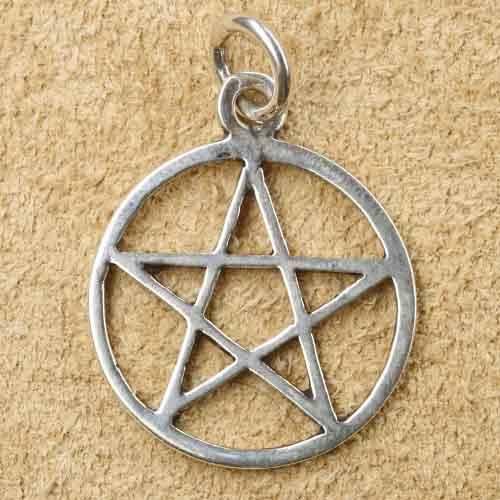 Pentagramm Silberschmuck Anh