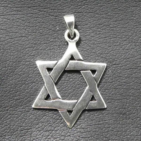Davidstern Schmuck Anhänger Silber
