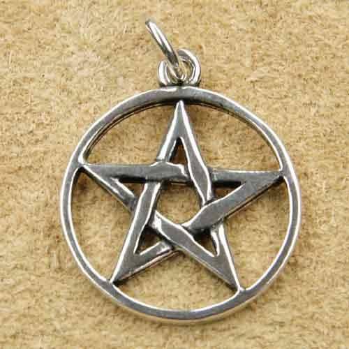 Pentagramm Silber Anhänger drudenfuß