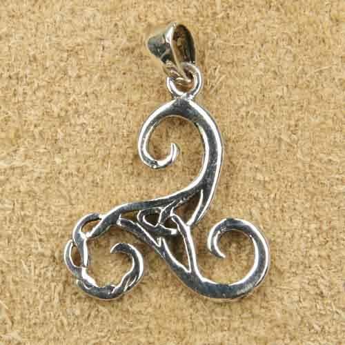 keltische Triskel Schmuck Kettenanhänger 925 Silber