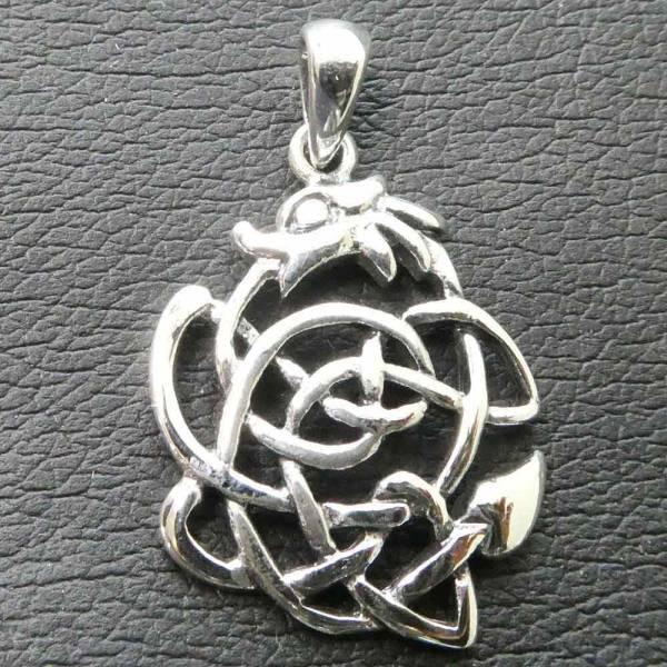 Keltischer Drache Schmuck Kette Silber