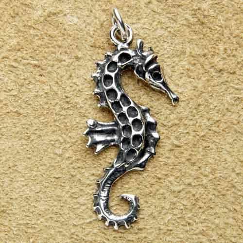 Seepferdchen Kettenanhänger 925 Silber