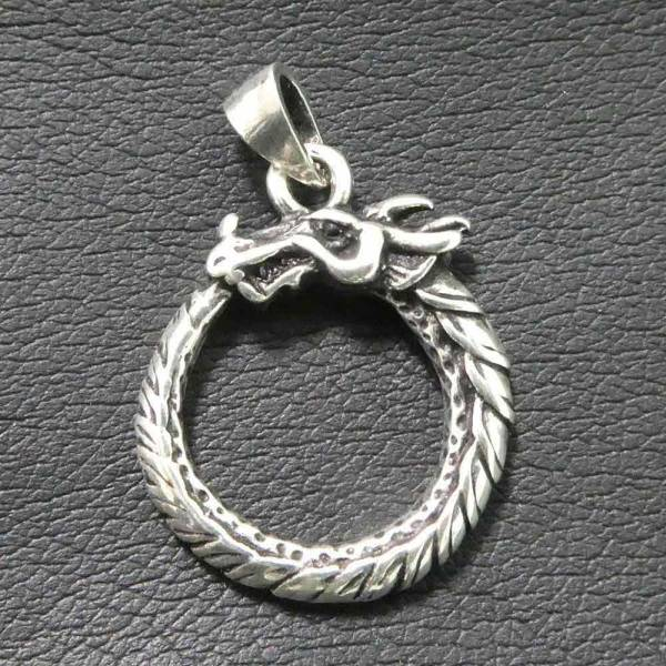 Midgardschlange germanischer Schmuck Silber