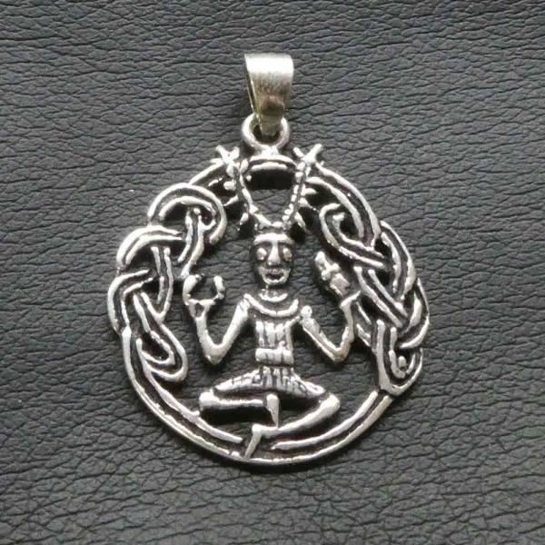 keltischer Gott Anhänger Silber Cernunnos