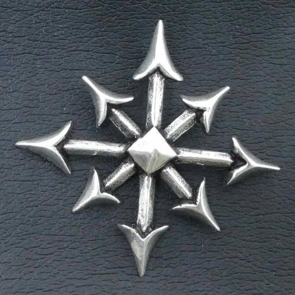 Chaosstern Schmuck Silber Anhänger