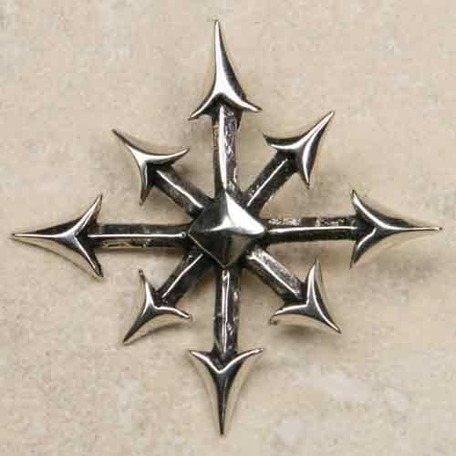 Chaosstern 925 Sterling Silber Anhänger