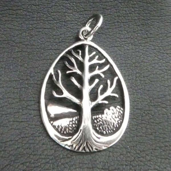 Lebensbaum Schmuck Anhänger Silber
