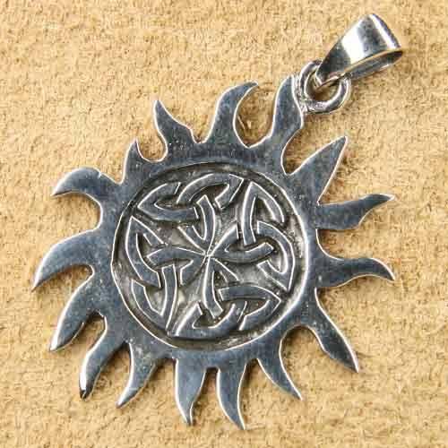 Keltische Sonne Schmuck Anhänger  Kelten