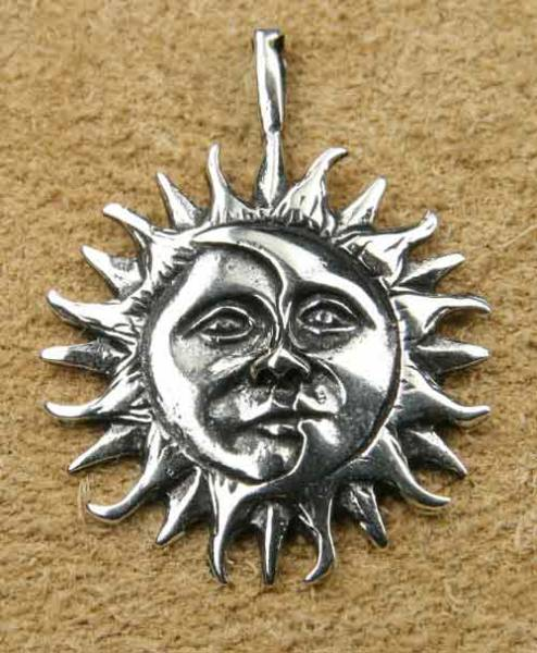 Eclipse Schmuck Silber Sonnen-Mond-Finsternis